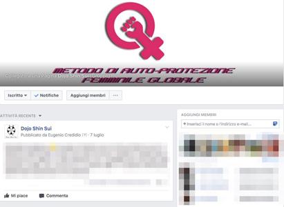 Gruppo riservato Facebook difesa personale femminile