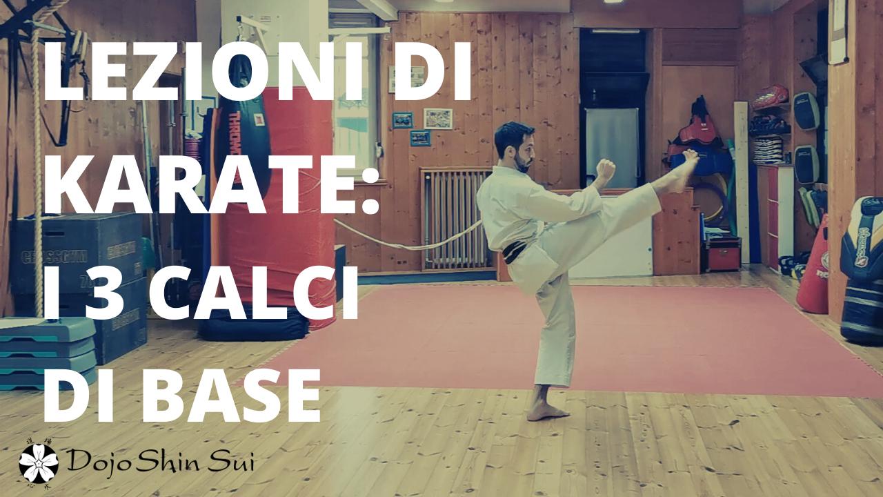 Lezioni di Karate: i 3 calci di base