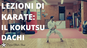 Nella lezione di karate di oggi impareremo la posizione arretrata, il kokutsu dachi ed la parata a mano aperta; 2 tecniche tipiche del karate