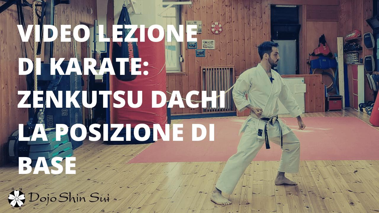 Lezioni di Karate: la posizione di base
