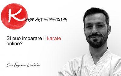 Si può imparare karate online?